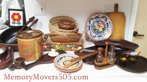 Kitchen wood and baskets